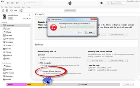 How to uncheck the encrypt iPhone backup option in iTunes