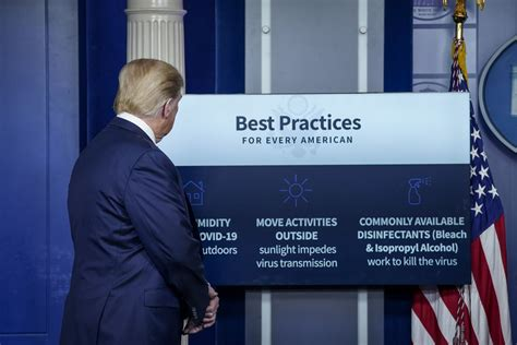 Video and transcript: Trump suggests studying disinfectant
